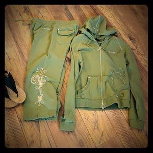 2 PC, jacket and capri , BCBGMAXAZRIA, SIZE L